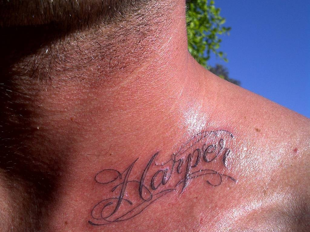 David Beckham exibe a tatuagem que fez em homenagem a filha Harper (8/8/11)