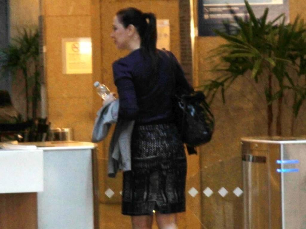 Cláudia Raia e Célia Regina visitam Reynaldo Gianecchini em São Paulo. Recentemente o ator foi diagnosticado com câncer (15/8/11)
