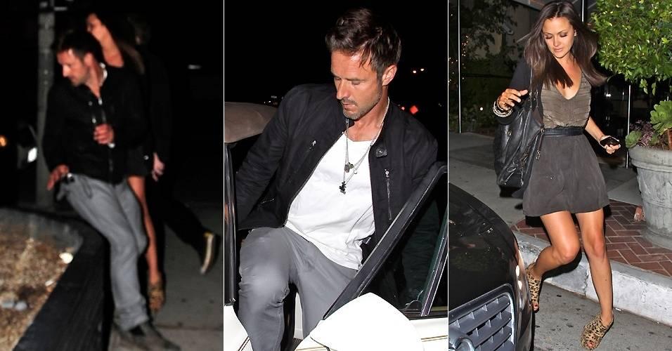 O ator David Arquette, ex-marido de Courteney Cox, foi fotografado saindo de um clube noturno em West Hollywood com uma morena (16/8). Ao verem que estavam sendo fotografados, eles fugiram e sairam do local em carros separados (16/8/2011)