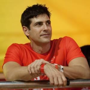 O ator Reynaldo Gianecchini em camarote do Carnaval de Salvador (3/3/2011)
