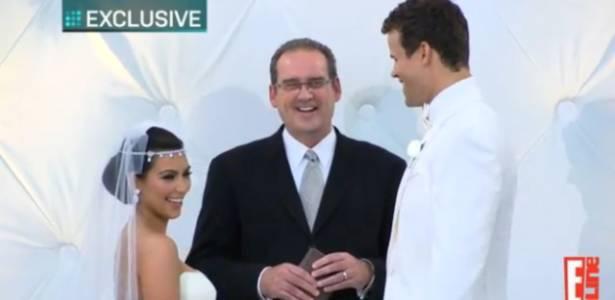 Cenas do casamento de Kim Kardashian e Kris Humphries divulgadas pelo canal E! (20/8/2011)