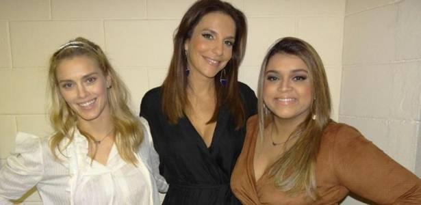 Carolina Dieckmann, Ivete Sangalo e Preta Gil participam do programa de aniversário de Luciano Huck (25/08/2011)