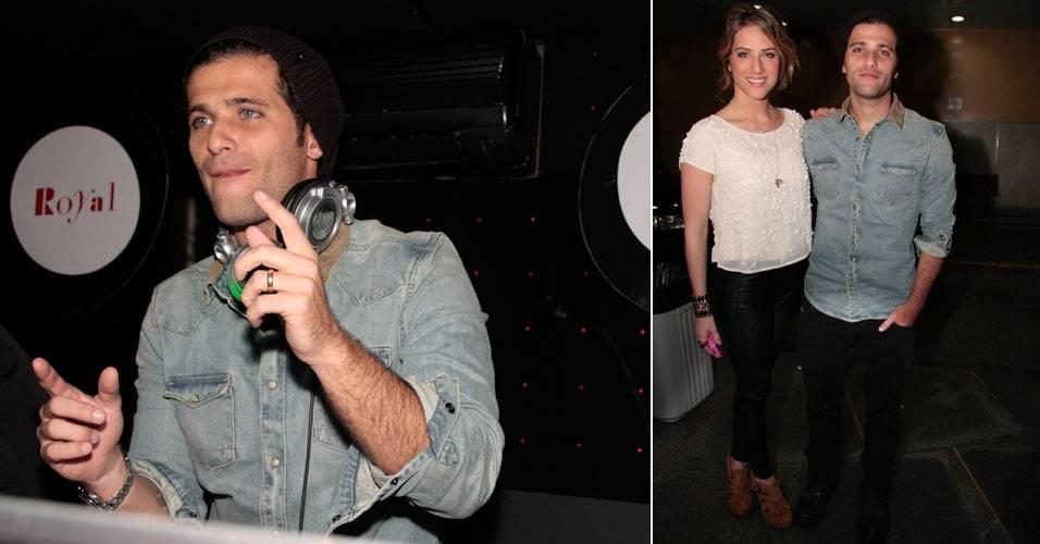 Bruno Gagliasso vai a boate paulistana com a mulher, Giovanna Ewbank, e se apresenta como DJ (3/9/11)