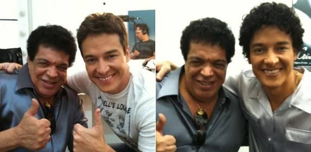 Antes e depois: Rodrigo Faro e Wando aparecerão juntos em comercial