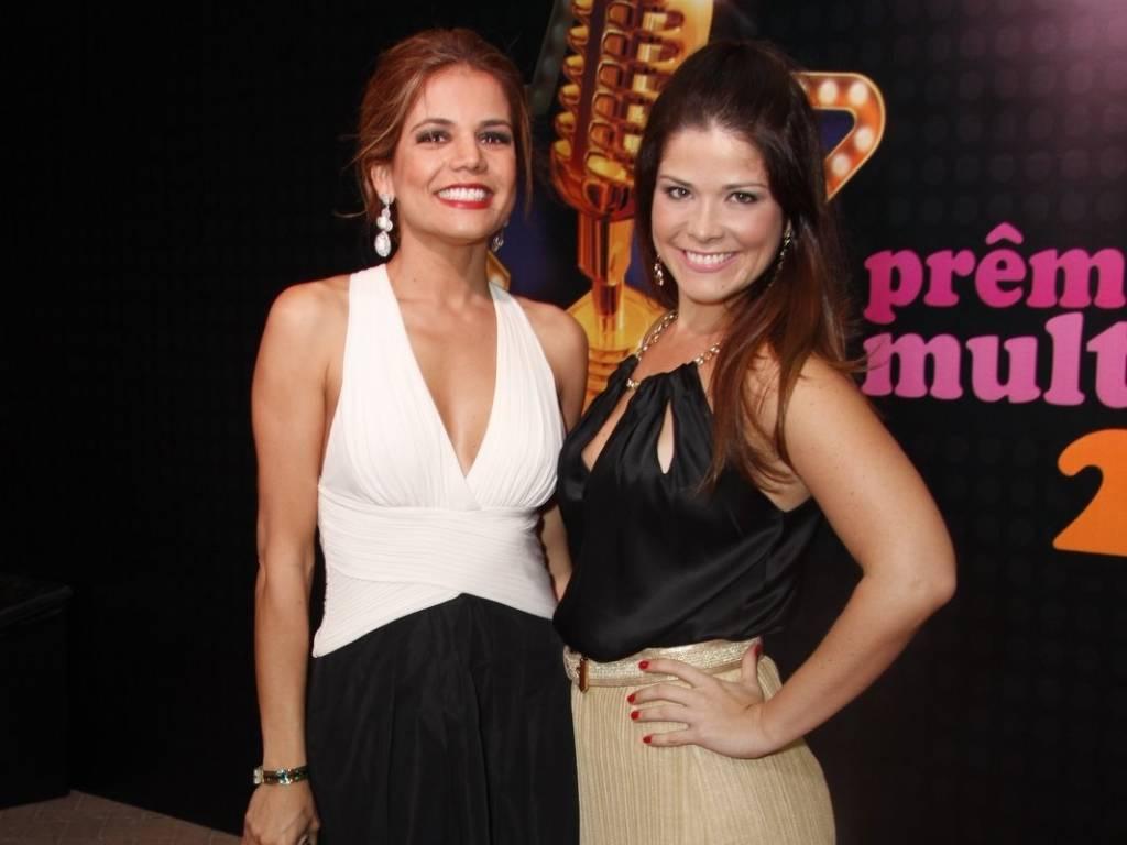 Nívea Stelmann e Samara Felippo no tapete vermelho do Prêmio Multishow 2011 (6/9/2011)