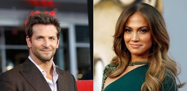 O ator Bradley Cooper e a cantora Jennifer Lopez