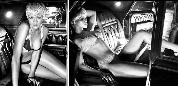 Rihanna posa para foto da grife italiana Armani (2011)
