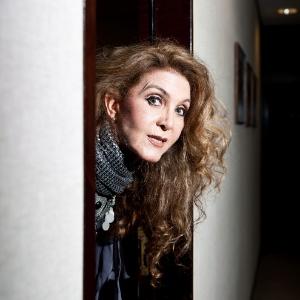 A cantora Wanderléa, nos bastidores de show (7/6/2011)