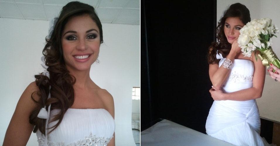 Maria Melilo faz ensaio para revista de noivas (17/9/11)