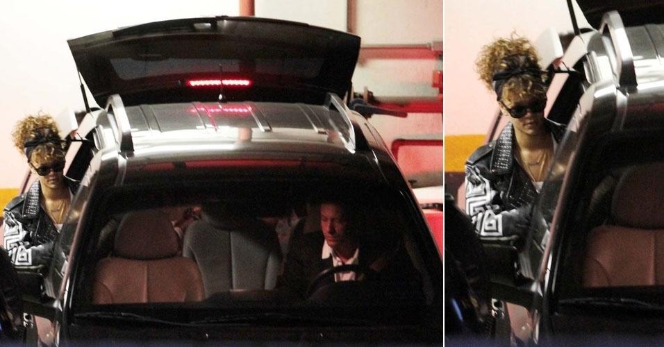 Rihanna deixa hotel Fasano, em São Paulo (17/9/11)