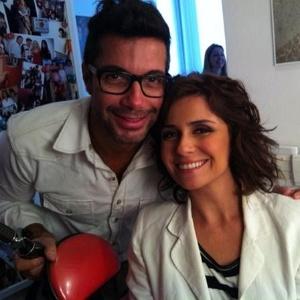 Fernando Torquatto e Giovanna Antonelli nos bastidores (27/9/11)