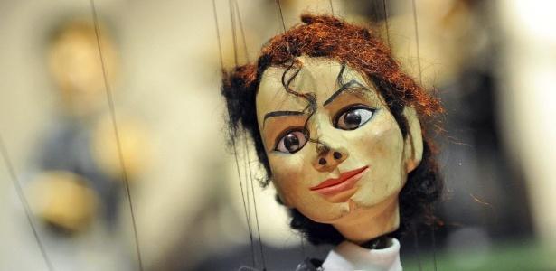 Marionete de Michael Jackson no no Teatro de Marionetes de Augsburgo, na Alemanha