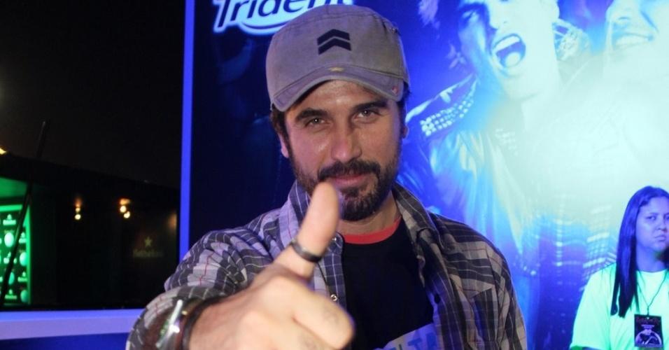 O ator Eriberto Leão assiste a shows do Rock In Rio no camarote do evento (29/9/11)