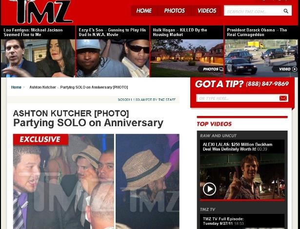 TMZ publica fotos de Ashton Kutcher em clube noturno em San Diego no dia 23, sem a mulher Demi Moore (29/9/2011)