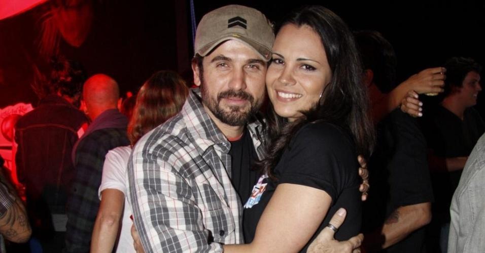 Eriberto Leão e Andréa Leal em camarote do Rock In Rio (29/9/11)