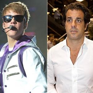 Justin Bieber recebe Álvaro Garnero no camarim