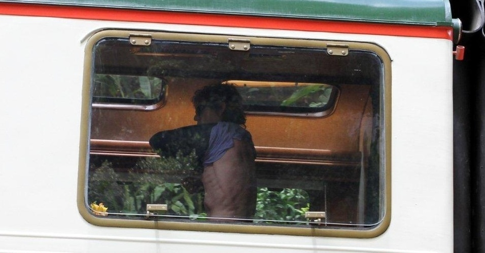 Mick Jagger e o filho Lucas visitam Machu Picchu (13/10/2011)