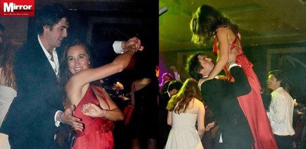 Pippa Middleton dança com homem desconhecido em evento de caridade em Londres, na Inglaterra (01/10/2011)
