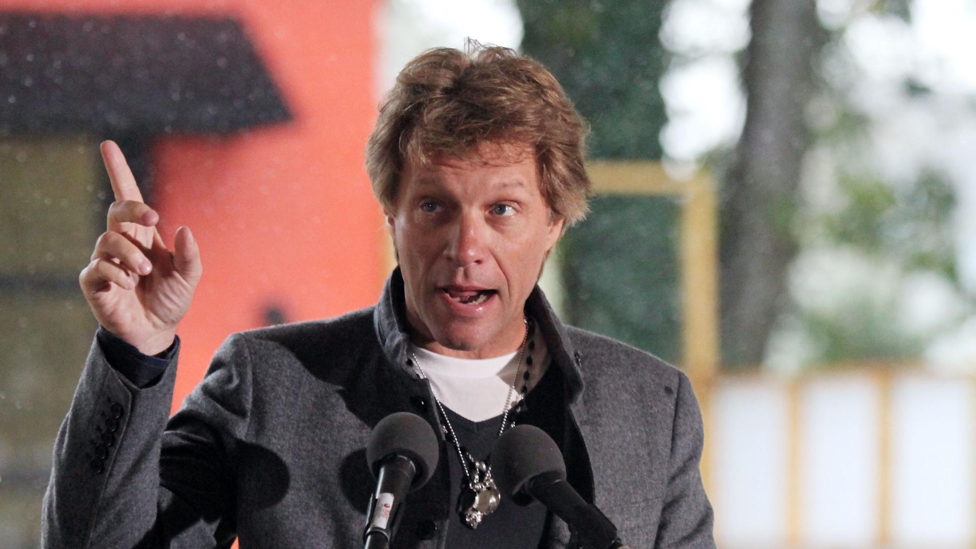 Jon Bon Jovi na inauguração do