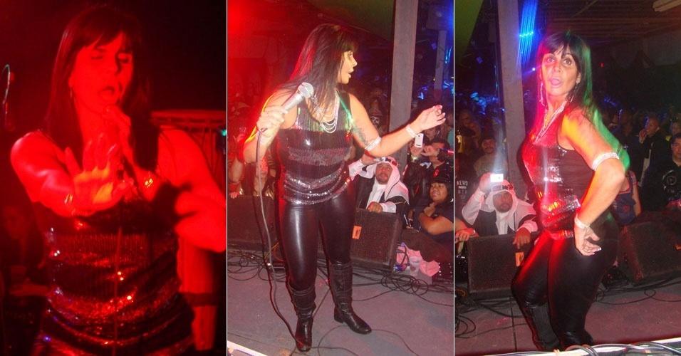 Após boatos de que estaria trabalhando como garçonete nos EUA, Gretchen anima festa de Halloween em Nova Jersey (30/10/2011)