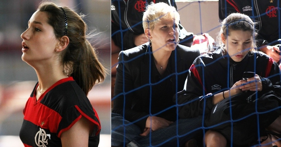 Xuxa torce pela filha Sasha em jogos do Flamengo na Taa Paran de Voleibol, em Curitiba (31/10/2011)