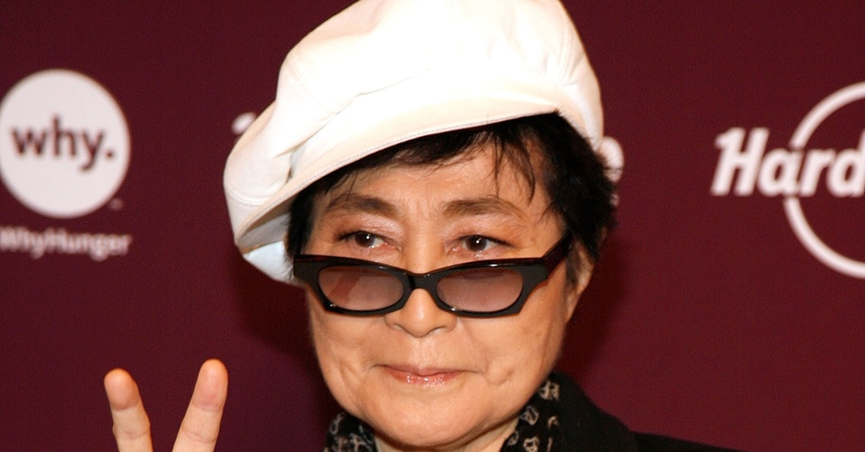 Yoko Ono vai a evento em Nova York, Estados Unidos (01/11/2011)