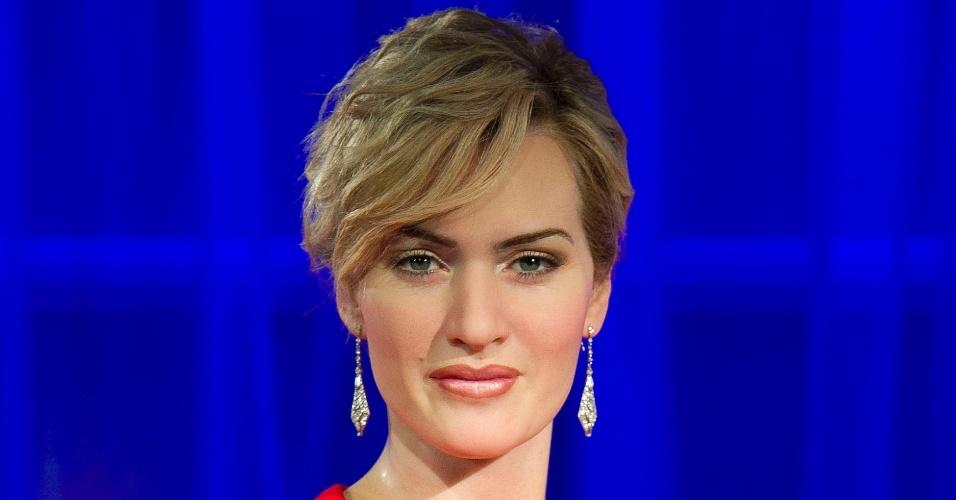 Atriz Kate Winslet ganha estátua de cera no Museu Madame Tussauds, em Londres (9/11/11)