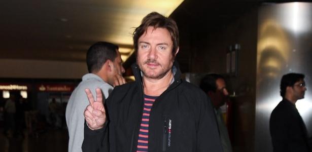 Simon Le Bom e integrantes do grupo inglês Duran Duran desembarcam em São Paulo (12/11/11)