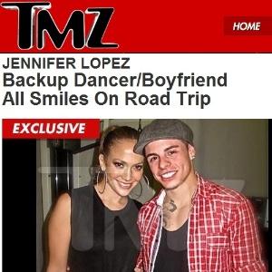 TMZ divulga foto de Jennifer Lopez com o namorado, que é dançarino dela (14/11/11)