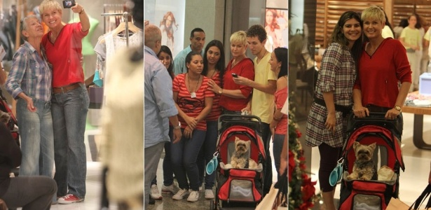 Xuxa faz passeio em shopping do Rio de Janeiro com seu cozinho (23/11/2011)