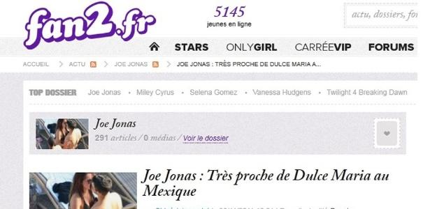 Site divulga imagem de suposto beijo entre Joe Jonas e a ex-RBD Dulce María (30/11/2011)