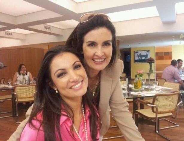 William Bonner posta foto de Patrícia Poeta e Fátima Bernardes no Twitter (1/12/2011)