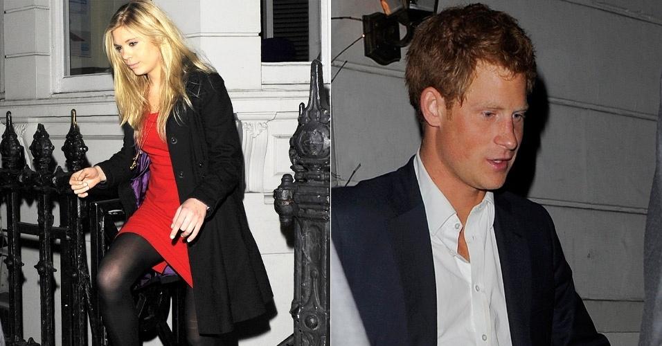 Príncipe Harry e ex-namorada frequentam a mesma balada em Londres.