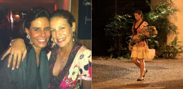 Após gravar programa com Narcisa Tamborindeguy, Luana Piovani é fotografada com buquê de flores (07/12/2011)