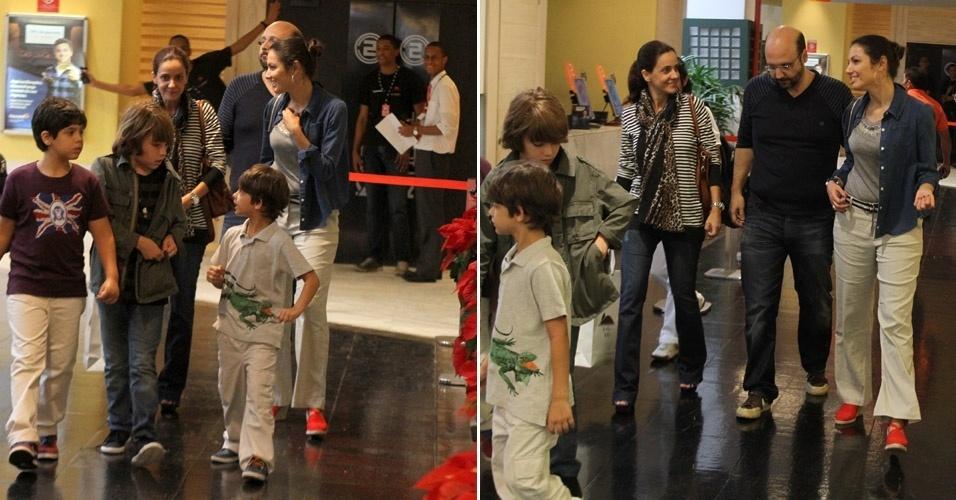 Patrícia Poeta vai ao cinema no Rio de Janeiro