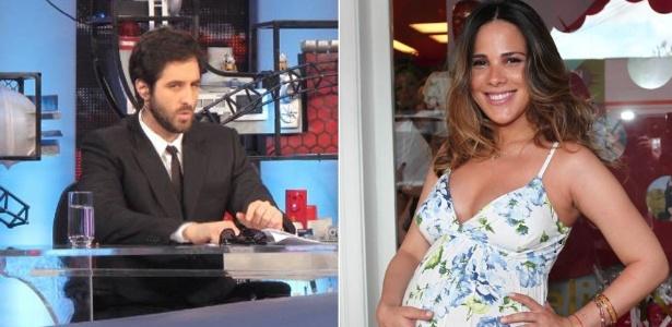 O apresentador Rafinha Bastos e a cantora Wanessa (16/12/11)