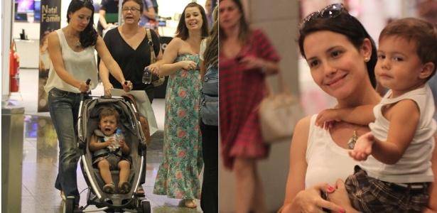 Juliana Knust faz passeio em shopping com filho Matheus (20/12/2011)