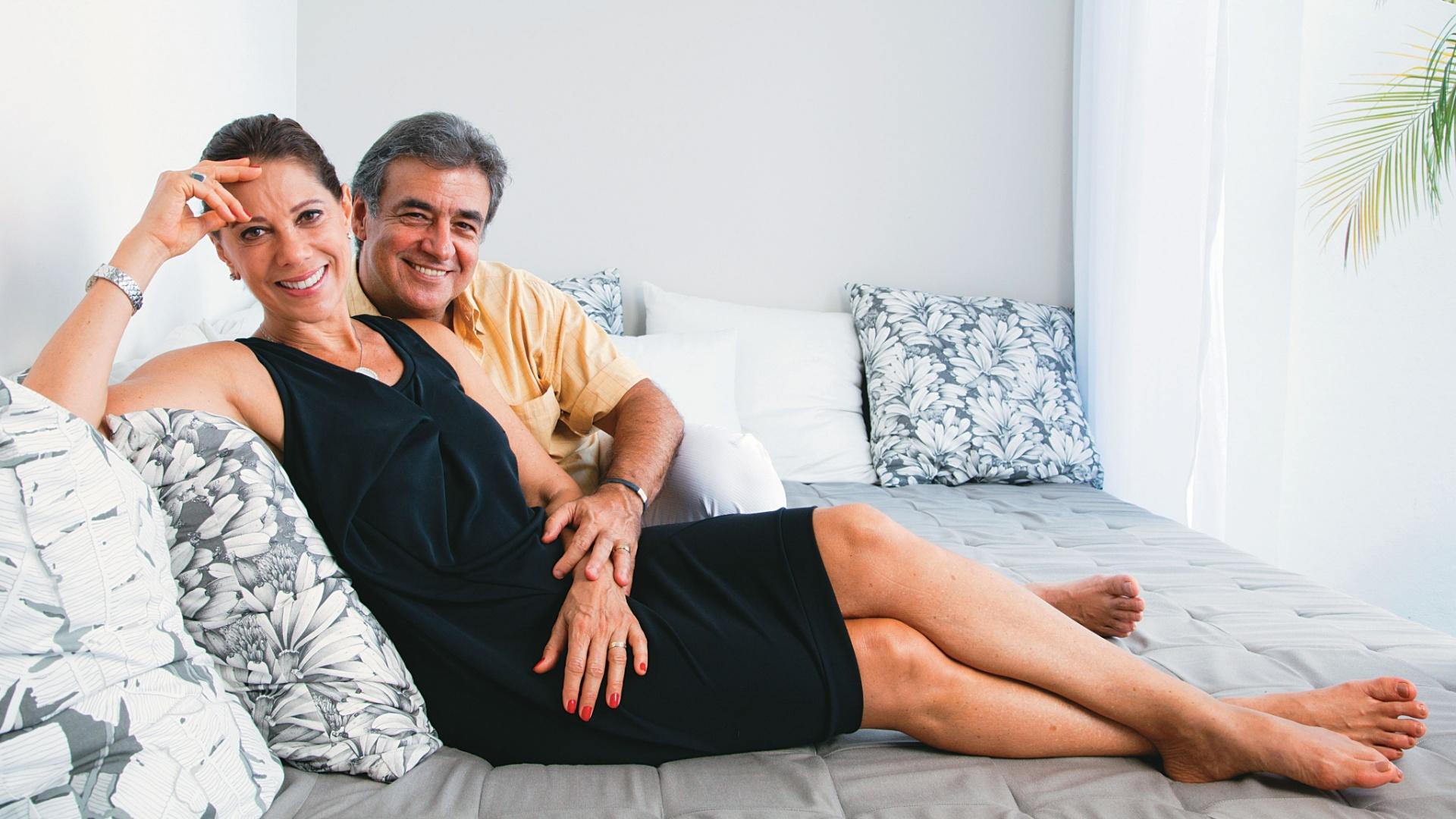 Ângela Vieira e Miguel Paiva posam para a revista