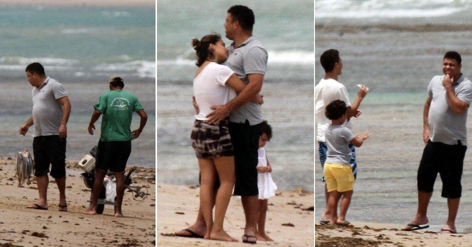 Ronaldo se diverte com sua famlia em Trancoso, na Bahia (29/12/11)