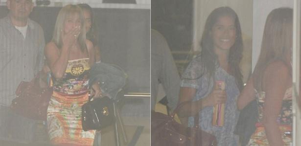 Zilu e Camila Camargo visitam Wanessa em maternidade de São Paulo (7/1/2012)