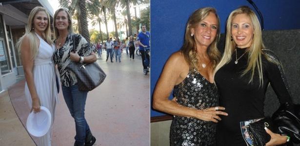 Ângela Bismarchi encontra Helô Pinheiro em Miami (8/1/2012)