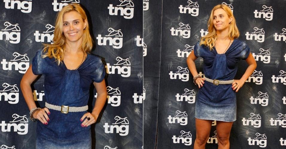 Carolina Dieckmann faz prova de roupas para o desfile da TNG que acontecerá na quinta (11) no Fashion Rio, Rio de Janeiro (10/1/2012)