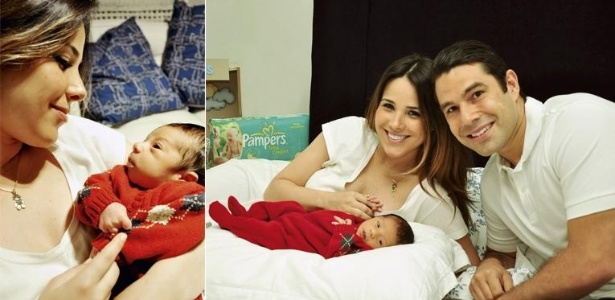 Wanessa e Marcus Buaiz apresentam o filho José Marcus