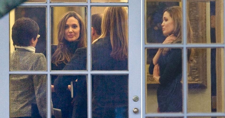 Angelina Jolie é flagrada no salão oval da Casa Branca (11/01/12)