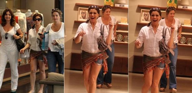 Giovanna Antonelli passeia em shopping acompanhada de amigas no Rio de Janeiro (13/1/2012)