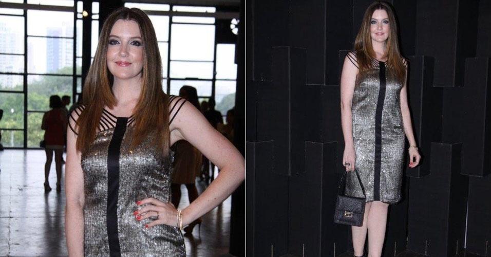 Larissa Maciel prestigia o são Paulo Fashion Week, semana de moda que acontece em São Paulo (19/1/12)