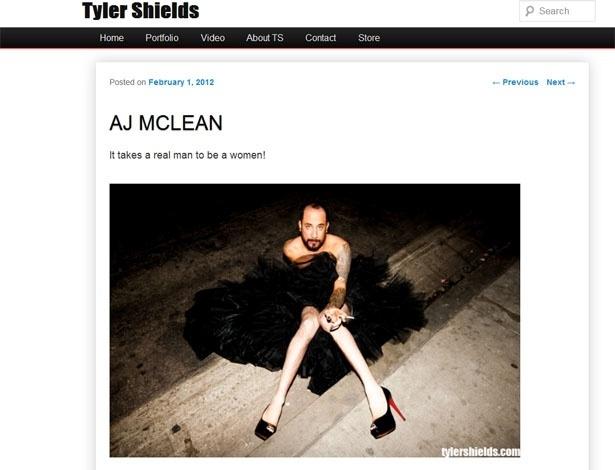 AJ McLean da banda Backstreet Boys posou para o fotógrafo Tyler Shields vestido de mulher (1/2/12)