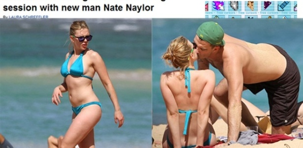 Scarlett Johansson  vista aos beijos com Nate Naylor no Hava (10/2/12)
