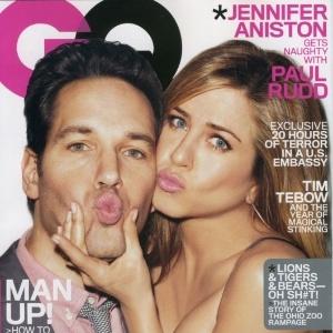 Jennifer Aniston e Paul Rudd na capa da