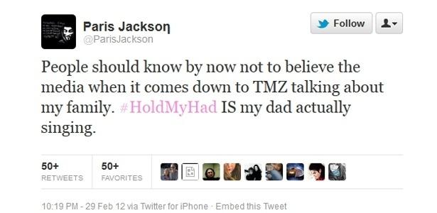 Paris Jackson, filha de Michael Jackson, nega rumores de que ele não teria cantado na faixa
